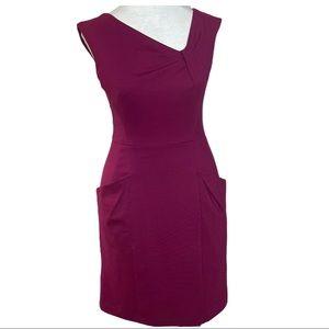 Silhouette Ponte Knit Sheath Dress Pockets